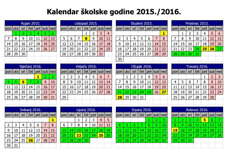 Skolski+Kalendar+20122013 Srednja škola Hrvatski kralj Zvonimir ...